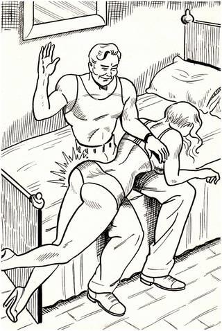 otk spanking drawing by Eric Stanton
