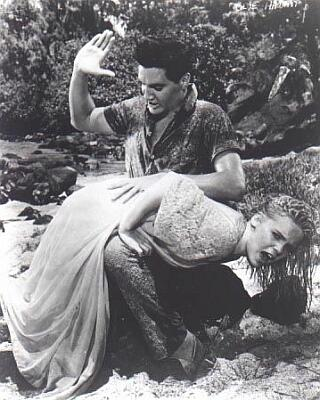 Elvis spanking Jennifer Maxwell Lee in Blue Hawaii