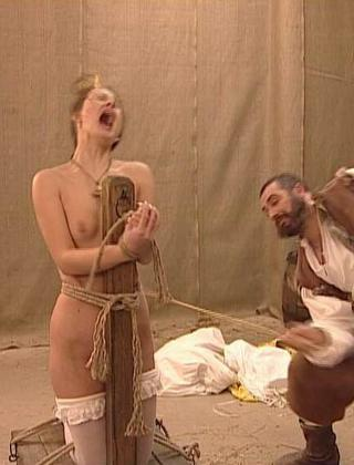 woman tied up and caned in Fairy Tale caning movie