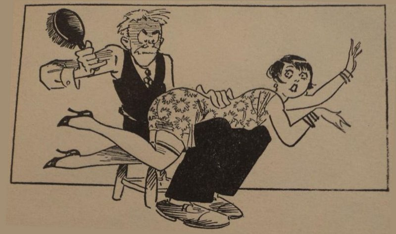 hairbrush spanking for a flapper