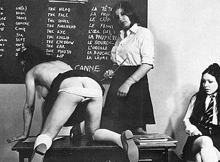 schoolgirl caned during her french language lesson