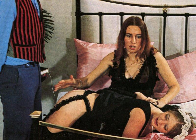 french maid otk bedroom spanking in 1970s danish porn magazine
