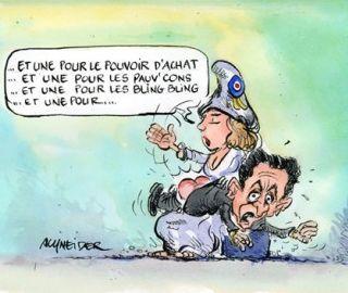 cartoon political spanking - Marianne