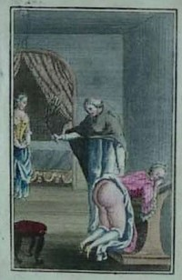whipping illustration from French book