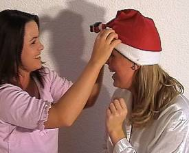drunk boarding school girls in santa hats
