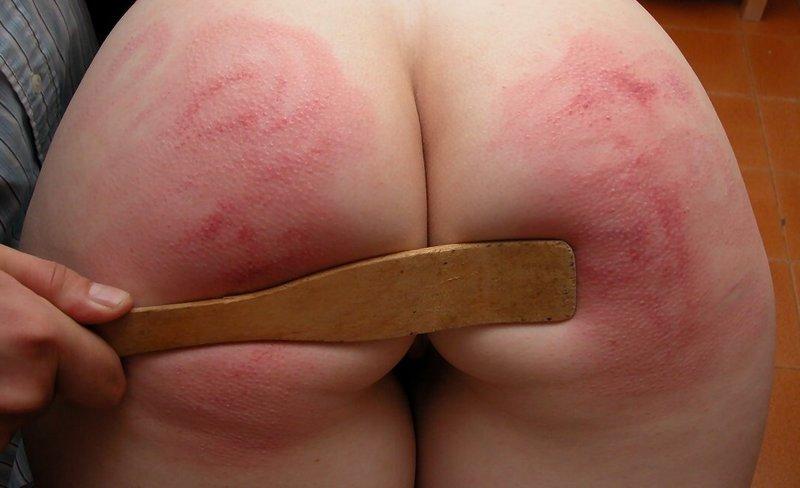 wooden spatula hard spanking