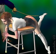 schoolgirl being caned