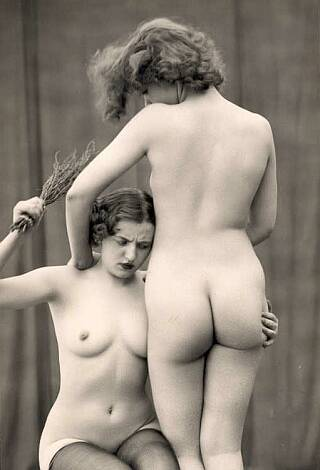 nude lesbian birching