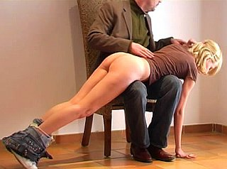 girl gets an otk spanking for smoking