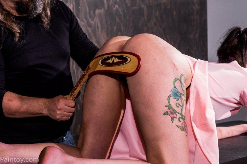 hocky stick spanking