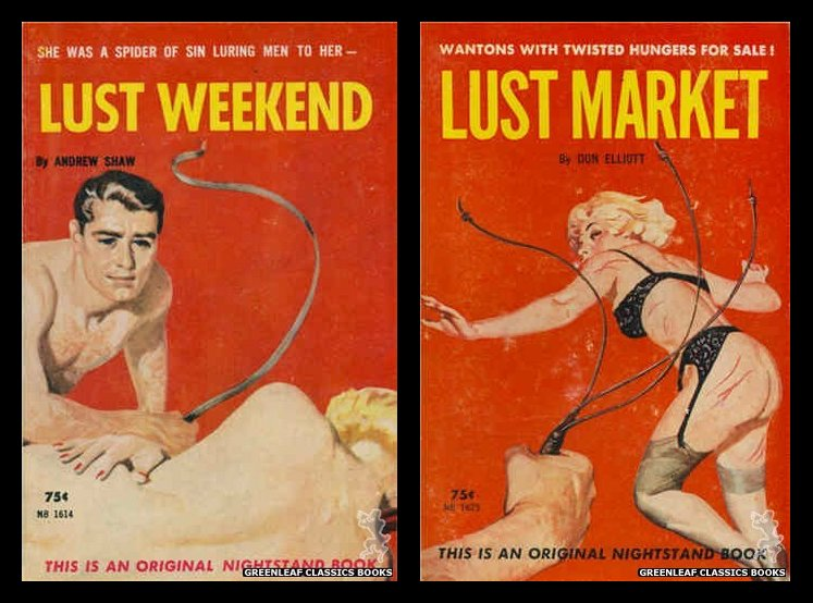 lust weekend and lust market book covers