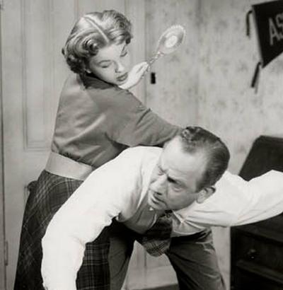 older man gets a hairbrush spanking