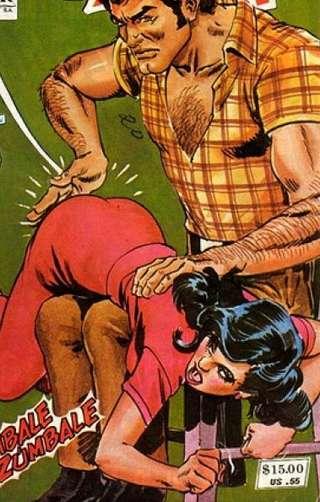 comic book otk spanking
