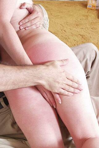 eager student enjoys her spanking