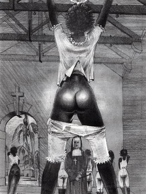 black girl whipped in a tropical convent