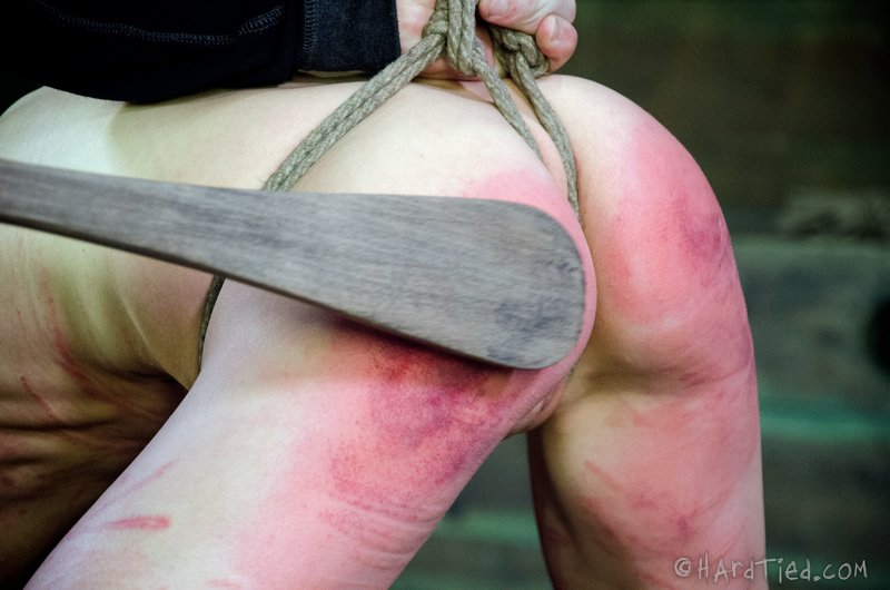 hard spanked with heavy wooden spoon