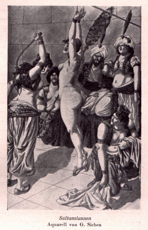 harem slave whipped while the sultan watches