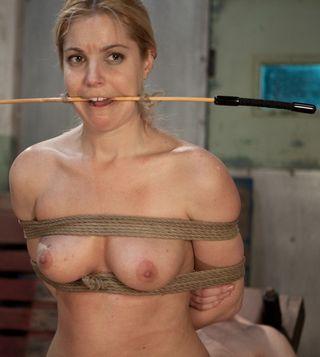holly stevens wild eyed over her cane gag
