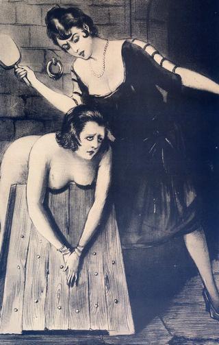 vintage spanking and bondage art