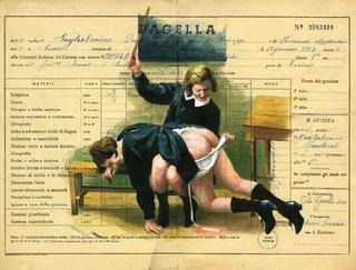 vintage italian report card