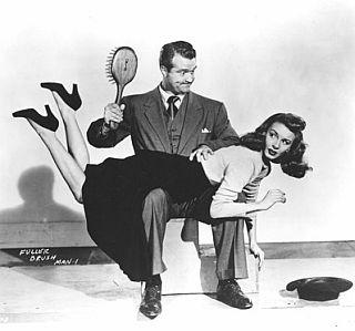 spankings for Janet Blair in The Fuller Brush Man