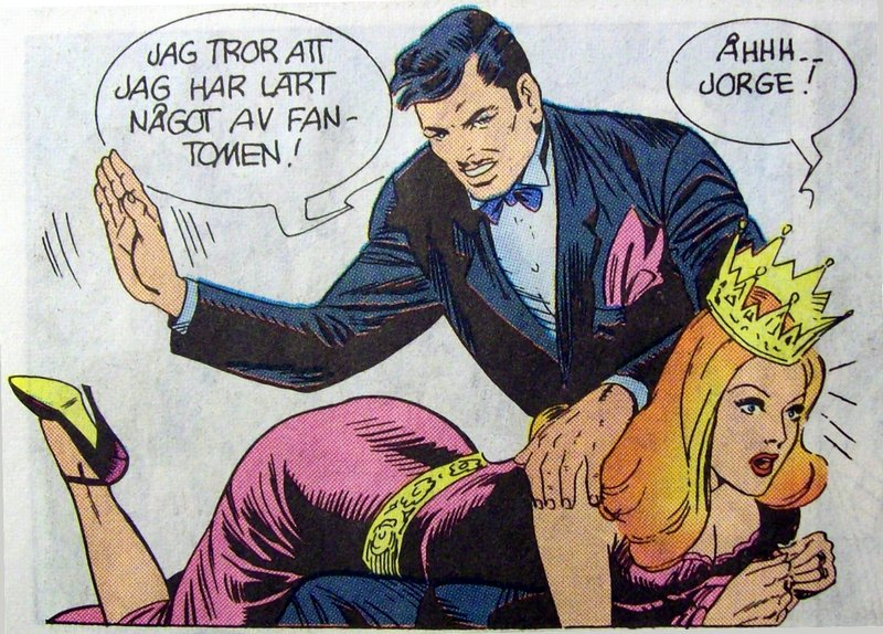 Count Jorge spanks queen pera in the phantom comic book swedish version