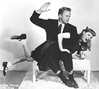 June Allyson gets a spanking