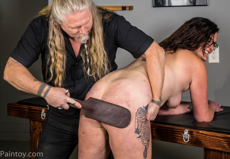 leather paddle spanking for kali danes