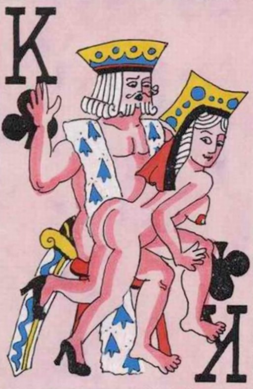 spanking on the king of clubs in a deck of kinky playing cards
