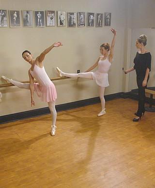 the spanking dance instructor prepares to punish Wenona and Sasha Lexing
