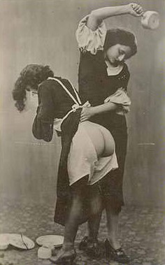 scullery maid spanked with a pot for dropping dishes