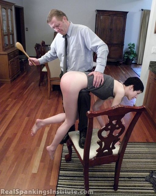 wooden spoon otk spanking in precarious posture