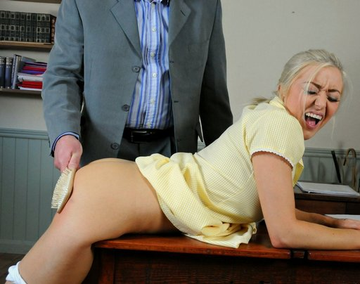 leandra spanked for fucking off in detention