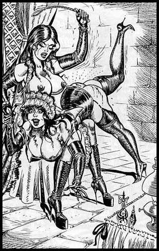 bill ward otk ass whipping illustration