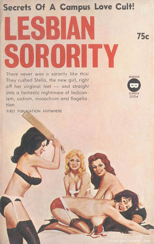 cover of lesbian spanking stroke book