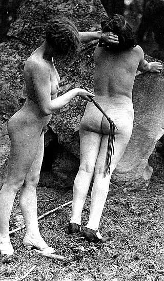 outdoor lesbian whipping