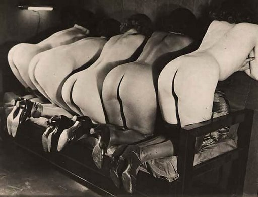 four girls ready for caning