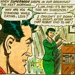 a robot spanking for lois lane