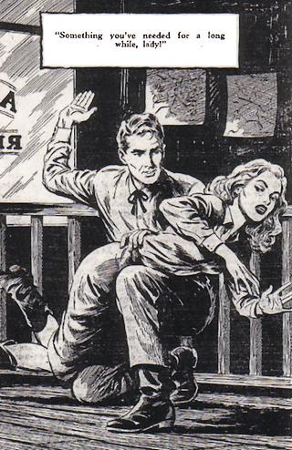 spanking illustration from Love Story magazine