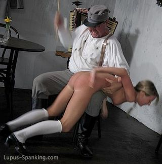 caned over his knee