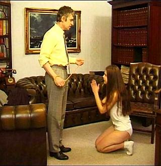girl in trouble begs and pleads on her knees to no avail