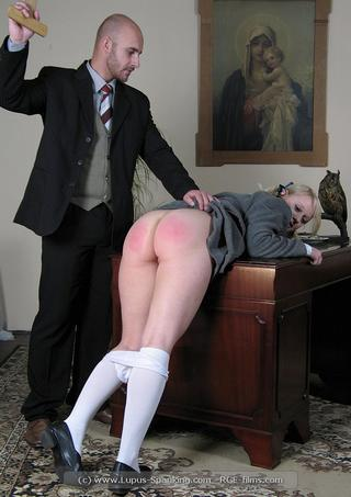 posh schoolgirl spanked until her bottom is red and sore