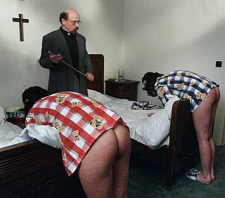 girls being punished in religious school dormitory