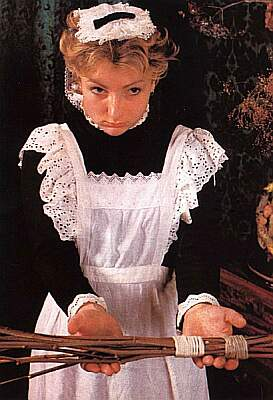 maid ready for her birching punishment