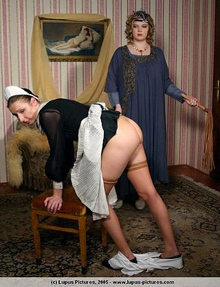 french maid whipped with martinet