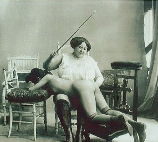 spanking from a mean-looking woman