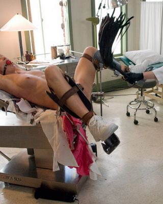 tied and pussy whipped by kinky lesbian doctor