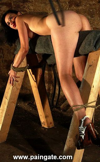 the whip is in the air for ushi\'s first whipping at paingate.com