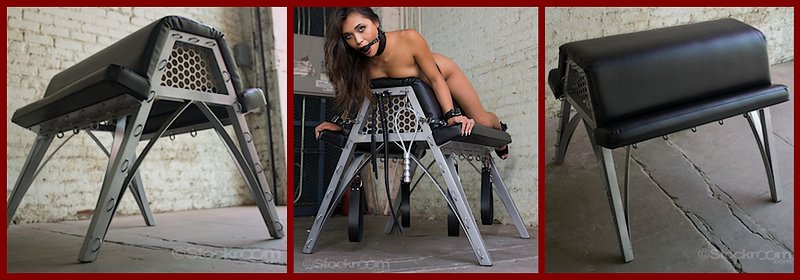 padded spanking bench by metal bound