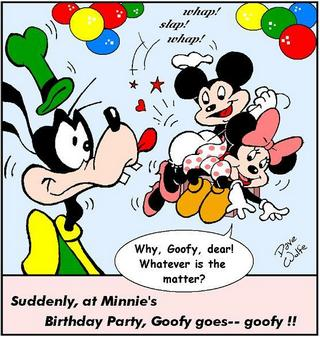 minnie gets a birthday spanking from mickey